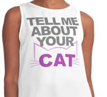 Tell Me About Your Cat (Pink & Grey) Contrast Tank