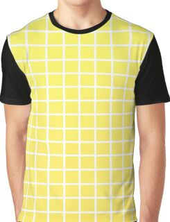 yellow grid Graphic T-Shirt