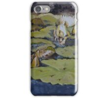 Waterlilies in Oil on Canvas iPhone Case/Skin