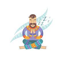 Yoga man by Tatsiana Kandrashova