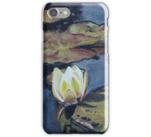 Waterlily in Oil on Canvas iPhone Case/Skin