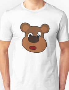 Cute Cartoon Bear Face T-Shirt