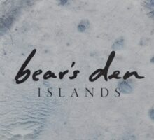 Bear's Den Islands LP Vinyl cover Sticker