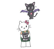 Goodbye Note: A Hello Kitty Death Note Parody Photographic Print