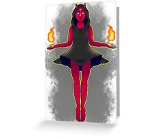 tarot card of the devil Greeting Card