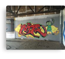 Selfie Red Graffiti in Funky Town Canvas Print
