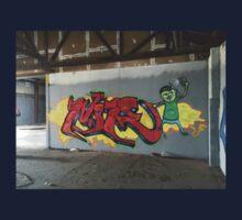 Selfie Red Graffiti in Funky Town Kids Tee