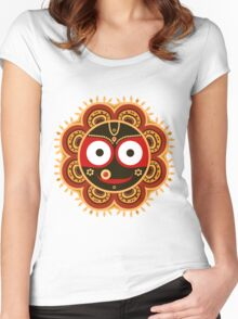 Jagannath. Indian God of the Universe. Lord Jagannatha. Women's Fitted Scoop T-Shirt