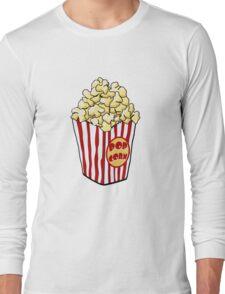 Cartoon Popcorn Bag Long Sleeve T-Shirt