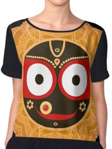 Jagannath. Indian God of the Universe. Lord Jagannatha. Chiffon Top