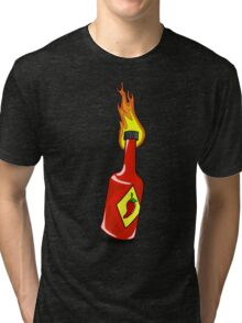 Cartoon Hot Sauce Tri-blend T-Shirt