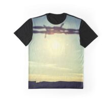 Barbed wire sunset Graphic T-Shirt