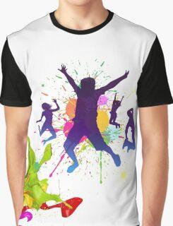 boys jumping against a paint splatter Graphic T-Shirt