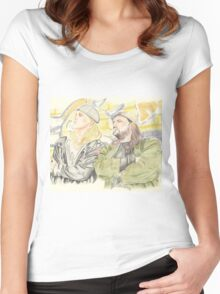 Jay and Silent Bob. Women's Fitted Scoop T-Shirt