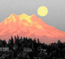 Glowing Mountain Sticker