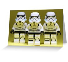 Lego Storm Troopers on Yellow Greeting Card