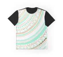 Mint + Gold Tribal Graphic T-Shirt
