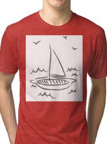 Just A Small Little Sailboat Tri-blend T-Shirt