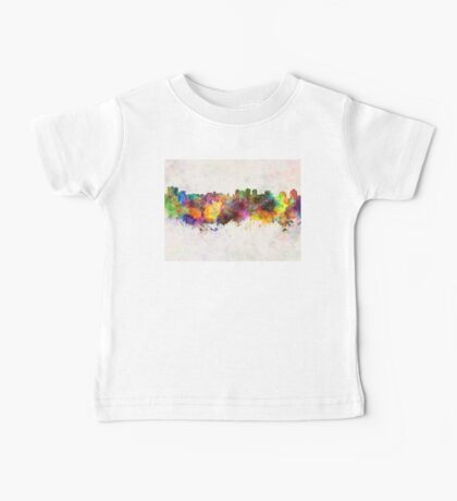 Halifax skyline in watercolor background Baby Tee