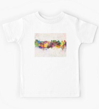 Halifax skyline in watercolor background Kids Tee