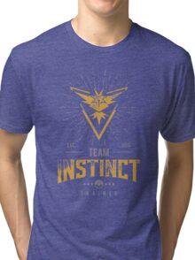 Team Instinct Pokemon Go Tri-blend T-Shirt