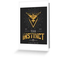 Team Instinct Pokemon Go Greeting Card