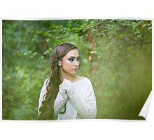 fantasy young woman in woods Poster