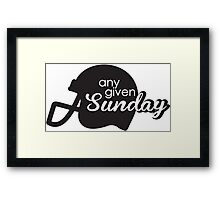 Any given sunday Framed Print