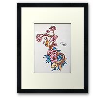 Koi fish with  blossom  Framed Print