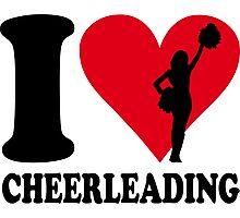 I love cheerleading Photographic Print