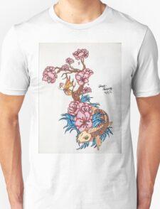 Koi fish with  blossom  Unisex T-Shirt