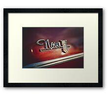 Chevy Nova 400 badge Framed Print