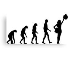Evolution cheerleading Canvas Print