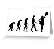 Evolution cheerleading Greeting Card