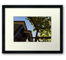 Summer Courtyard - Decorated Eaves and Grape Arbors in the Sunshine Framed Print
