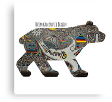 Berlin Bear Canvas Print