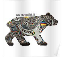 Berlin Bear Poster