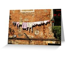Hanging out to dry Greeting Card