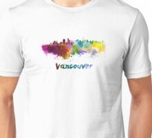 Vancouver skyline in watercolor Unisex T-Shirt