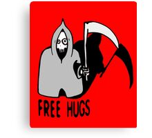 Free Hugs by The Death  (sad halloween version) Canvas Print