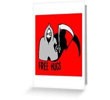 Free Hugs by The Death  (sad halloween version) Greeting Card