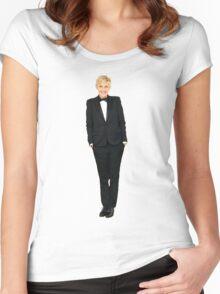 Ellen DeGeneres Women's Fitted Scoop T-Shirt