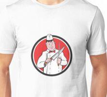 Butcher Sharpening Knife Circle Cartoon Unisex T-Shirt