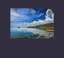 Waiting for the fishing boat at Trichonis lake Unisex T-Shirt