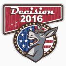 Decision 2016 Democrat Donkey by patrimonio