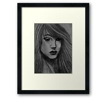 Charcoal Portrait Framed Print