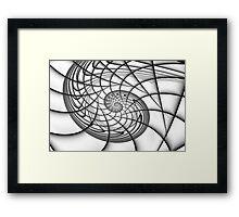 Spiral in Monochrome Framed Print
