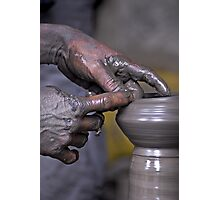 Pottery in Nepal Photographic Print