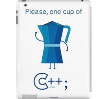 One cup of c++ iPad Case/Skin
