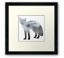 Low Poly Fox, Misty Forest Framed Print
